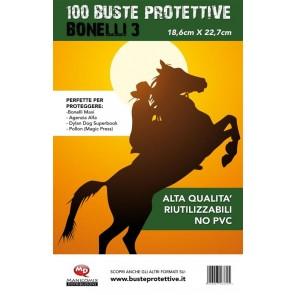 100 BUSTE PROTETTIVE BONELLI 3 (18,6 X 22,7)