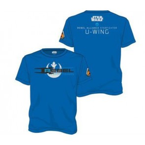 21963 - STAR WARS ROGUE ONE - T-SHIRT - SQUADRON LEADER BLU - S