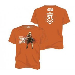 21970 - STAR WARS ROGUE ONE - T-SHIRT - SHORE TROOPER ORANGE - L