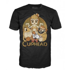 31041 - T-SHIRT - POP TEES - CUPHEAD AND BOSSES - S