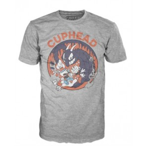 31049 - T-SHIRT - POP TEES - CUPHEAD MUGMAN DEVIL - S