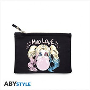 ABYBAG329 - DC COMICS - COSMETIC CASE -  HARLEY QUINN BLUE
