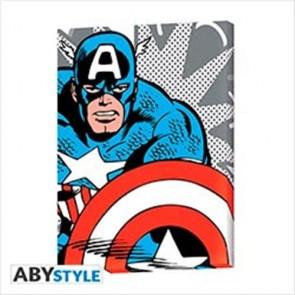 ABYDCO462 - MARVEL - CANVAS - CAPTAIN AMERICA POP ART (30x40) 2X