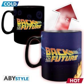 ABYMUG875 - BACK TO THE FUTURE - TAZZA HEAT CHANGE 460ML - TIME MACHINE