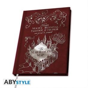 ABYNOT036 - HARRY POTTER - A5 NOTEBOOK THE MARAUDER MAP