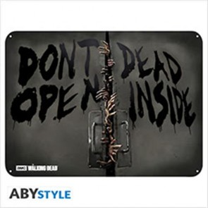 ABYPLA028 - THE WALKING DEAD - PLACCA METALLICA ZOMBIES 28X38 CM