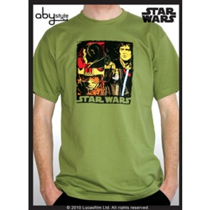 ABYTEX098S - T-SHIRT - STAR WARS - POP ART S