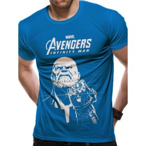 AVENGERS INFINITY WAR - T-SHIRT - BLUE THANOS - S