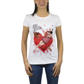 BATMAN16 - T-SHIRT HARLEY QUINN MAD LOVE DONNA S