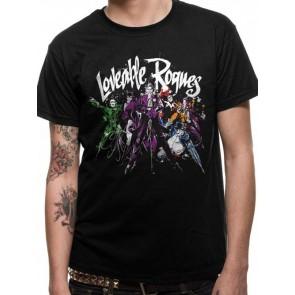 BATMAN - T-SHIRT - LOVEABLE ROGUES - L