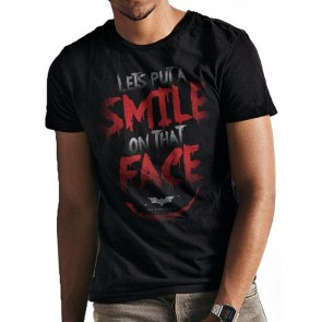 BATMAN - THE DARK KNIGHT TRILOGY - T-SHIRT - THE DARK KNIGHT TRILOGY - SMILE QUOTE - S