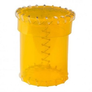 CAOP142 - AGE OF PLASTIC DICE CUP YELLOW