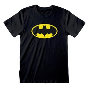DC COMICS - T-SHIRT BLACK - LOGO BATMAN S