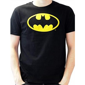 DC COMICS BATMAN - TS028 - T-SHIRT - BATMAN CLASSIC LOGO L