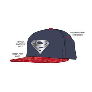 DC SUPERMAN - SNAPBACK CAP - METALLIC LOGO