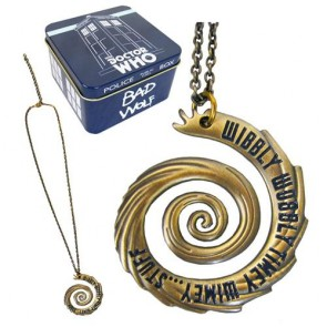 DOCTOR WHO - WIBBLY WOBBLY VORTEX GOLD NECKLACE - EE EXLCUSIVE