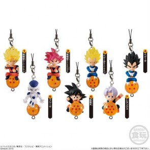 DRAGONBALL Z - SHOKUGAN STRAP QD MASCOT V.1 - SET COMPLETO DISPLAY 10 PZ