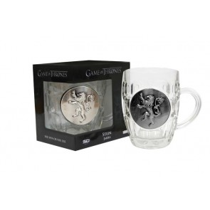 GAME OF THRONES - CRYSTAL STEIN WITH METALLIC LOGO - LANNISTER