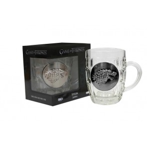 GAME OF THRONES - CRYSTAL STEIN WITH METALLIC LOGO - STARK