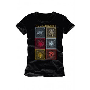 GAME OF THRONES - T-SHIRT BADGES OF THE KING M