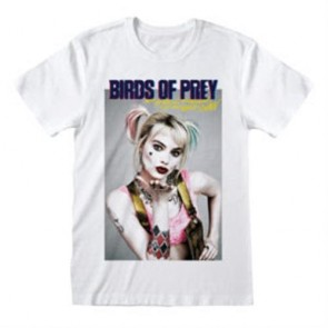 HARLEY QUINN: BIRDS OF PREY - T-SHIRT DONNA - POSTER STYLE L