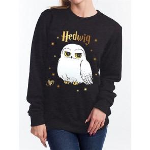 HARRY POTTER - FELPA DONNA - FOIL HEDWIG STARS - XL