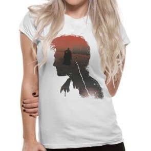 HARRY POTTER - T-SHIRT DONNA - BATTLE SILHOUETTE - L