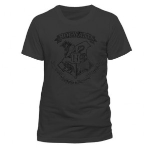 HARRY POTTER - T-SHIRT UNISEX - DISTRESSED HOGWARTS - L
