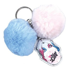 KEYHQ02 - DC COMICS - KEYRING (HEADER) POM POM - MAD LOVE