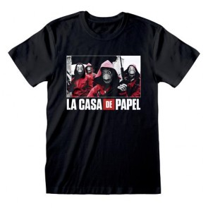 LA CASA DI CARTA - T-SHIRT - PHOTO AND LOGO XL