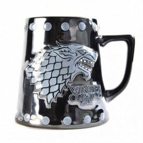 MUGTDGT05 - GAME OF THRONES - SMALL TANKARD MUG - GAME OF THRONES (STARK & STUD RELIEF)