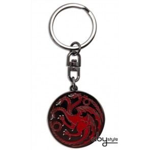 PORTACHIAVI IN METALLO TARGARYEN LOGO GAME OF THRONES TRONO DI SPADE HBO