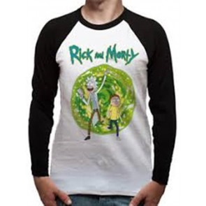 RICK AND MORTY - BASEBALL SHIRT - PORTAL - L