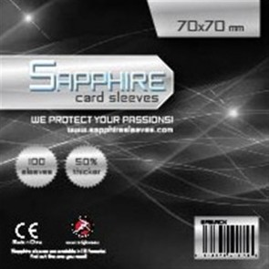 SAPPHIRE BLACK - 100 BUSTE PROTETTIVE 70X70MM