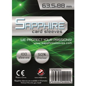 SAPPHIRE GREEN - 100 BUSTE PROTETTIVE 63,5X88