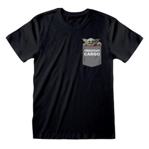 STAR WARS: THE MANDALORIAN - T-SHIRT - PRECIOUS CARGO POCKET S