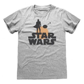 STAR WARS: THE MANDALORIAN - T-SHIRT - SILHOUETTE XL
