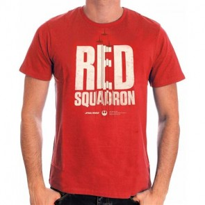 STAR WARS ROGUE ONE - T-SHIRT RED SQUADRON XL