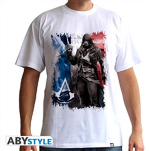 T-SHIRT - ASSASSIN'S CREED UNITY - AC5 FLAG L