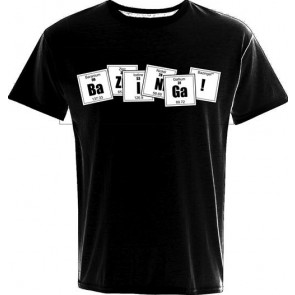T-SHIRT BIG BANG THEORY BAZINGA FORMULA BLACK XXL MARCHIO 2BNERD