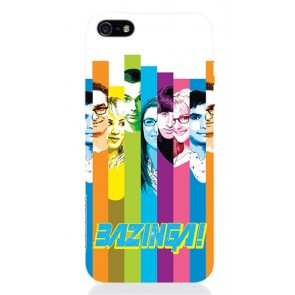 TBBT55 - COVER IPHONE 5 THE BIG BANG THEORY COLORS OPACA
