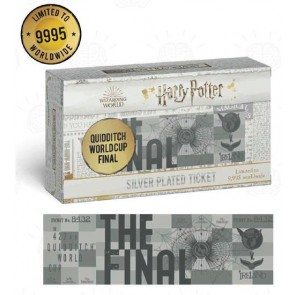 THG-HP29 - HARRY POTTER - SILVER PLATED TICKET - QUIDDITCH WORLD CUP