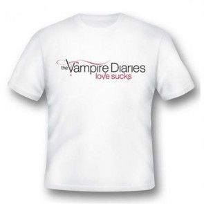 VD01 - T-SHIRT VAMPIRE DIARIES LOVE SUCKS S