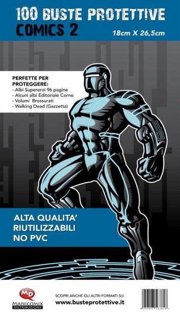 100 BUSTE PROTETTIVE COMICS 2 (18,0 X 26,5)