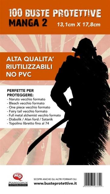 100 BUSTE PROTETTIVE MANGA 2 (13,1 X 17,8)