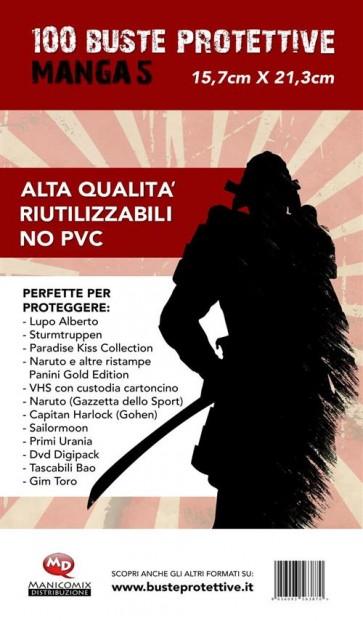 100 BUSTE PROTETTIVE MANGA 5 (15,7 X 21,3)