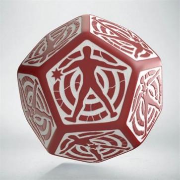 12HIT03 - DADO D12 HIT LOCATION RED & WHITE