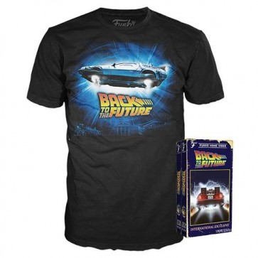 51680 - BACK TO THE FUTURE - T-SHIRT POP TEE - DELOREAN S
