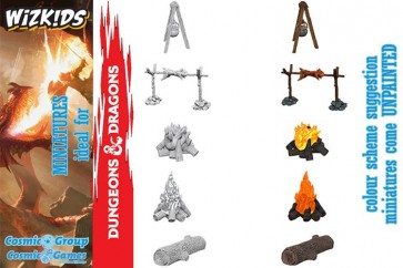 70392 - WIZKIDS UM CAMP FIRE & SITTING LOG
