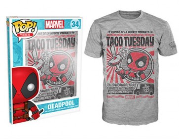 7385 - T-SHIRT - POP TEES 34 - DEADPOOL TACOS - XL
